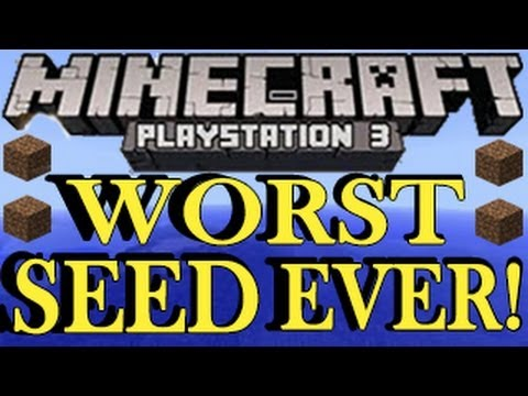 Minecraft PS3 - WORST SEED EVER - PlayStation 3 Seeds Showcase - 1.03 ( TU13)