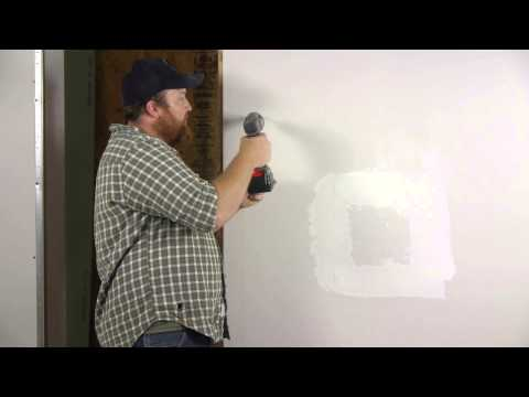 How to Install Self-Drilling Drywall Anchors : Wall Repair