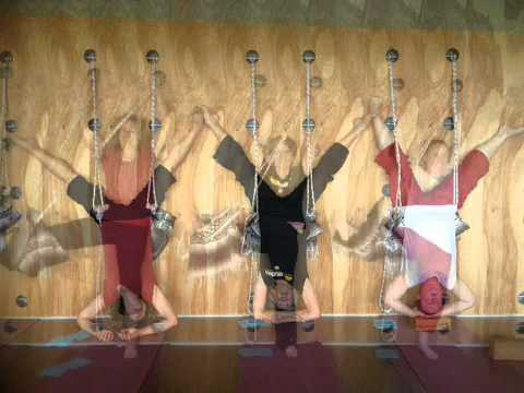 Yoga on a Rope Wall