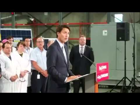 Trudeau at Canadian Solar