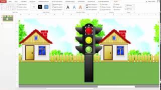 Senaryo 3 2 PowerPoint 2013 ile Trafik Lambalı Basit Bir Araba Animasyonu