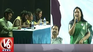 Visaka MD Saroja And Vamsi Attends For Voice Of Hyderabad Program