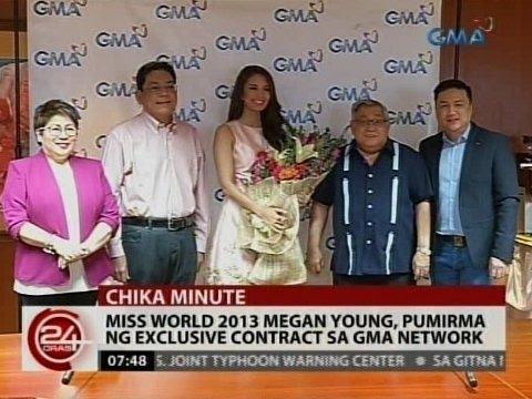 24 Oras: Megan Young pumirma ng exclusive contract sa GMA Network