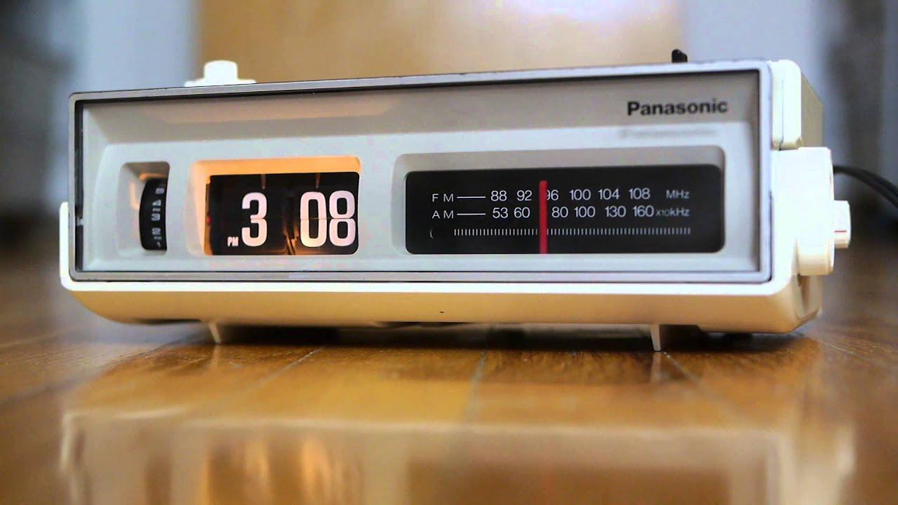 Panasonic Flip Clock Vintage Alarm Clock Radio Eames Rc