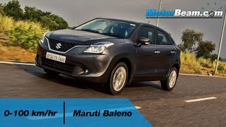 Maruti Baleno 0-100 km/hr Of All Powertrains | MotorBeam
