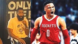 James Harden Reacts To Russell Westbrook Joining Rockets For Chris Paul!