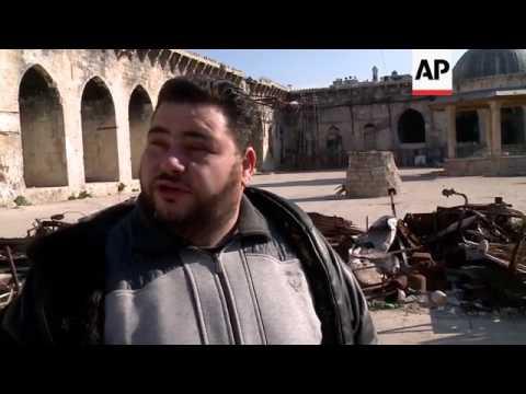 Historic Umayyad mosque damaged in Aleppo