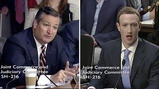 Ted Cruz makes Mark Zuckerberg Sweat During Congressional Testimony