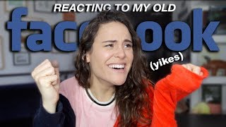 REACTING TO MY OLD FACEBOOK PROFILE (YIKES) | AYYDUBS