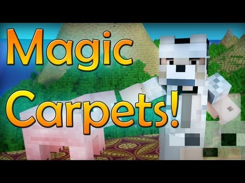 Minecraft Mods - DrZhark's MagicCarpet Mod 1.5.2 Review and Tutorial - A WHOLE NEW WORLD!