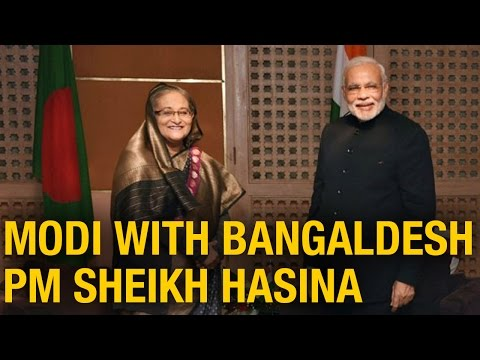 Narendra Modi Meets Bangladesh PM Sheikh Hasina at SAARC Summit in Nepal