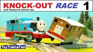 Thomas & Friends KNOCK-OUT RACE #1 - Trackmaster toy trains. Pociągi Tomek i Przyjaciele