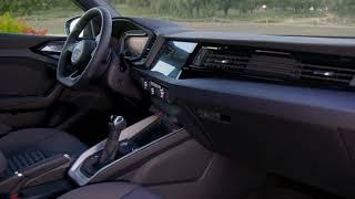 2018 Audi A1 Interior Design in Turbo blue