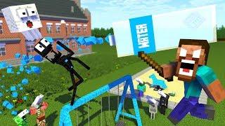 Monster School : BOTTLE FLIP Challenge APOCALYPSE - Minecraft Animation