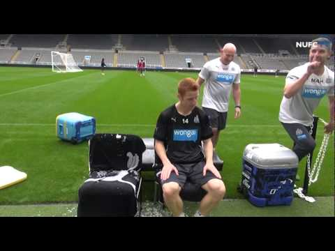 Pardew And Colback Accept Ice Bucket Challenge