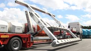 FAYMONVILLE MegaMAX semi-trailer: laterally offset (with inclined frame structure)