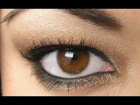 Metallic Brown Smokey Eye---The Easiest Smokey Eye Ever!!