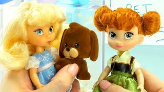 Disney Princesses Pet and Candy Store & Babysitting with Playmobil Sets & Unboxings
