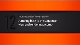 Sequence view & rendering a comp in NUKE STUDIO