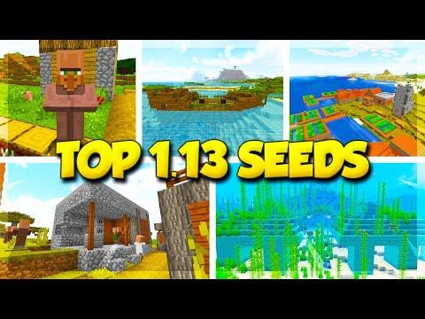 5 VILLAGE SEEDS for MINECRAFT 1.13! (Minecraft Update Aquatic Seeds)