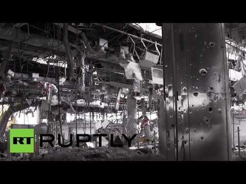 Inside destroyed Donetsk airport: Frontline Footage