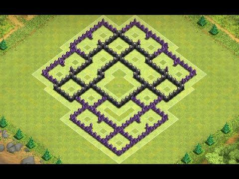 Clans melhor layout de defesa para centro de vila 8 best town hall