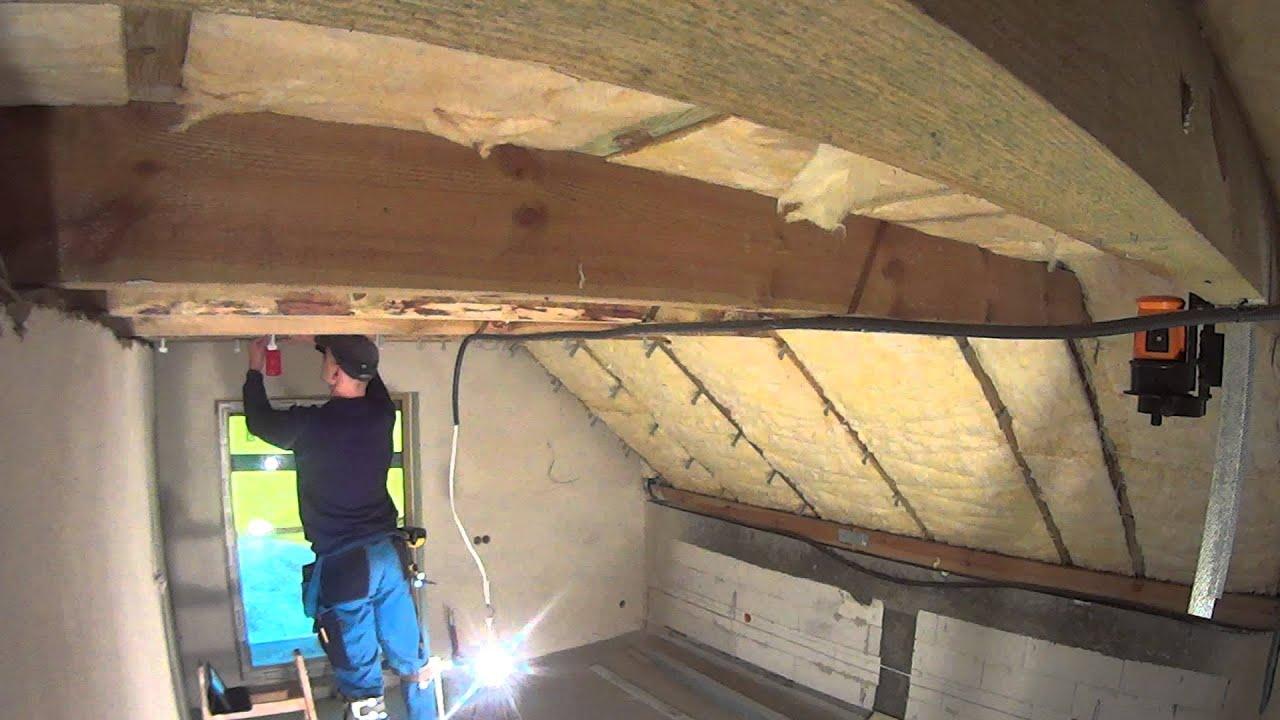 Ocieplenie Dachu I Zabudowa G K Poddasza Cz 5 Sufit Do