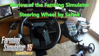 Review of the Farming Simulator Steering Wheel by Saitek MadCatz