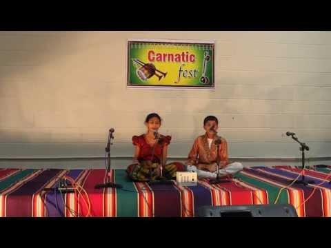 Aniket and Lasya Performance in Carnatic Fest 2014 – Bantu Reeti Photo Image Pic