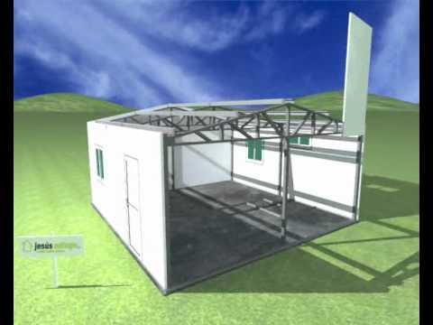 Jesus adiego montaje completo casas panel sandwich youtube - Casas de panel sandwich ...