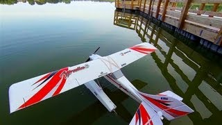 My E-flite Apprentice S 15e maiden flight as a floatplane - Benton Lake, Cologne, MN - Aug 4th, 2013