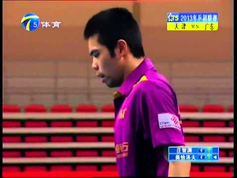 2013 China Super League: Chuang Chih-Yuan - Ovtcharov Dimitrij [Full Match/Chinese|HQ]