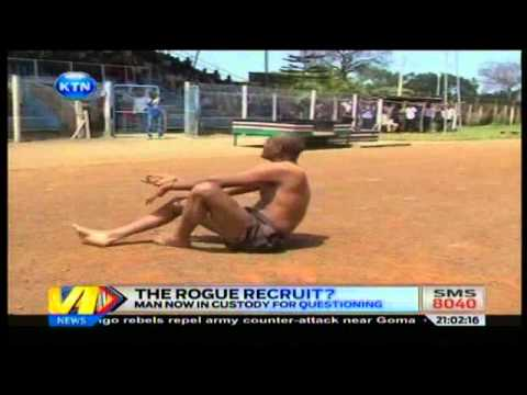 News : Recruit slaps police