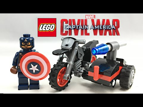 LEGO Captain America Civil War Motorcycle polybag review! 30447