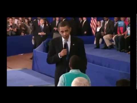 Little Boy Asks Obama Why People Hate Him