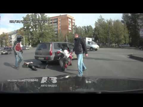 Драка на перекрестке (видеорегистратор)