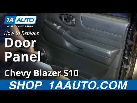 How To Install Replace 2 Door Panel Chevy S10 Blazer GMC Jimmy