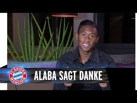 David Alaba sagt Danke!