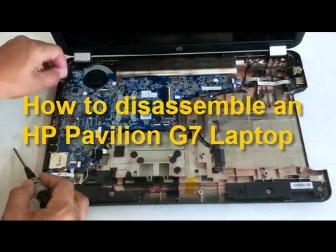 How to replace HP Pavilion G7 notebook motherboard. dc power jack. etc.