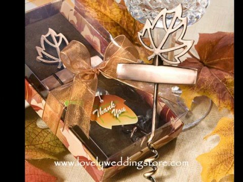 Fall or Autumn Wedding Favors by<br />