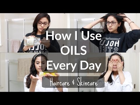 How I Use Organic Oils EVERYDAY   Haircare & Skincare Routine with Oil