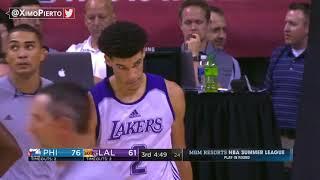 Lonzo Ball   36 Pts Summer League -  Lakers vs Sixers   July 12, 2017   2017 NBA Summer League