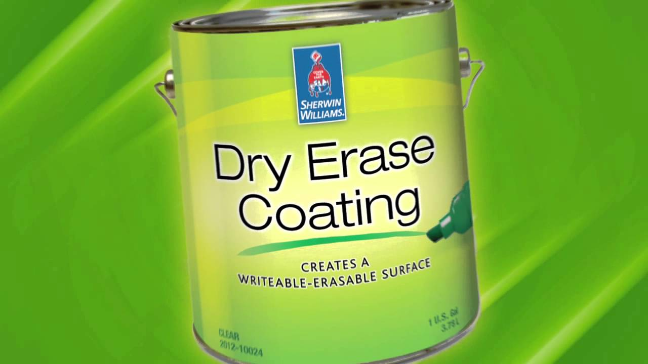 Dry erase coating clear gloss sherwin williams youtube for Sherwin williams dry erase paint review