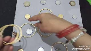 April fool masti with bangles and coins, game for ladies kitty party.