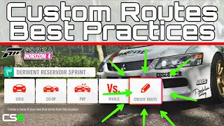 How To Make Forza Horizon 4 Custom Routes - Lancer Evo IX Rally Stage