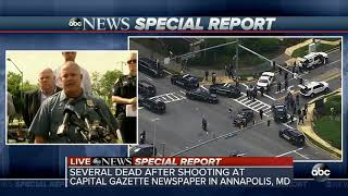 At least 5 dead in Annapolis newspaper office shooting