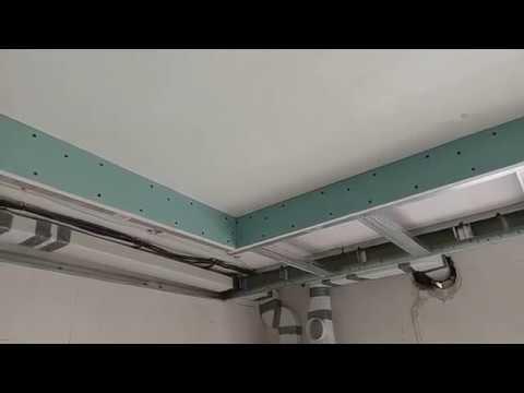 как усилить гипсокартонный бортик под натяжной потолок. Дополнительные профиля.