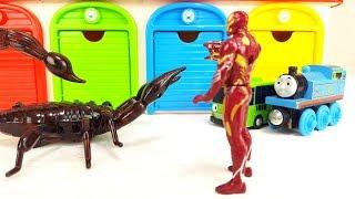Thomas, Disney Cars, Tayo & Chuggignton, Iron Man vs Scorpion Monster Story