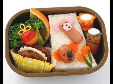 【キャラ弁】ウィンナーの動物園弁当の作り方 How To Make Sausage Animals Bento