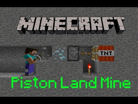 Minecraft: How To Make a Piston Land Mine